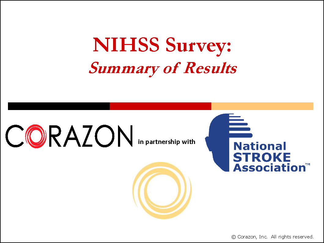 NIHSS Survey Summary
