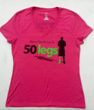 WOMAN'S V-NECK TEE (Black or Pink)