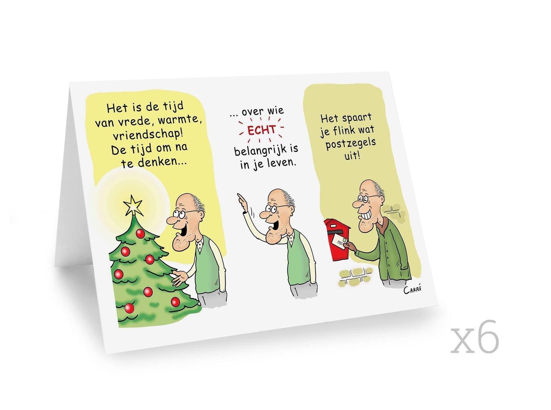 6 X Nieuwjaarskaart  (dubbelgeplooide kaart zonder omslag)