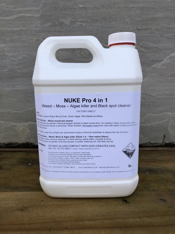 NUKE Pro 4 in 1 Weed, Moss, Algae Killer, Black spot cleaner