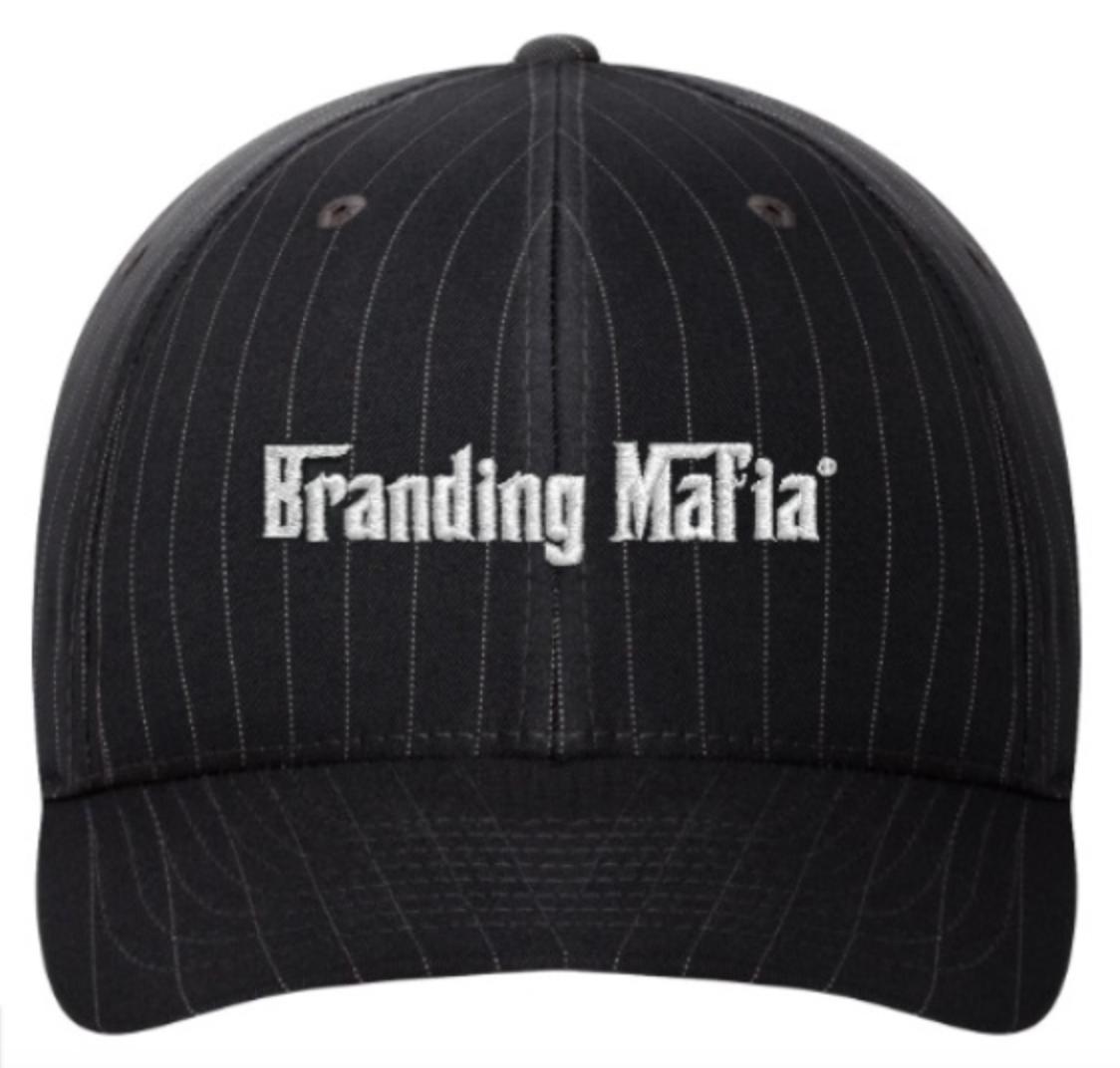 Branding Mafia Pinstripe Fitted Hat PSHBL001