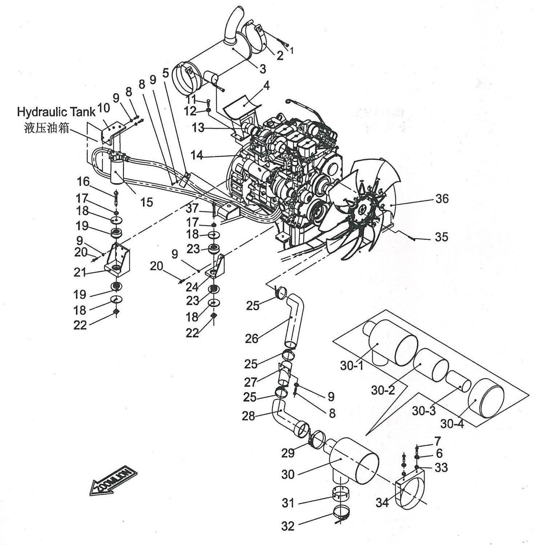 (Excavator) Engine