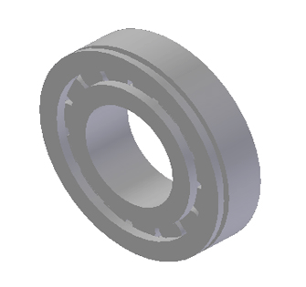 JAC CYLINDRICAL ROLLER BEARING (COUNTERSHAFT FRONT) NUP207EN