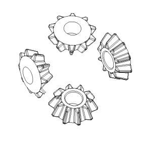 JAC PLANET GEAR (DIFFERENTIAL PLANETARY GEAR) 1829100100