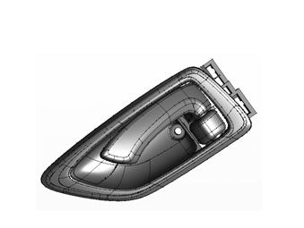 JAC LEFT DOOR INNER HANDLE ASSY 6105500LE010