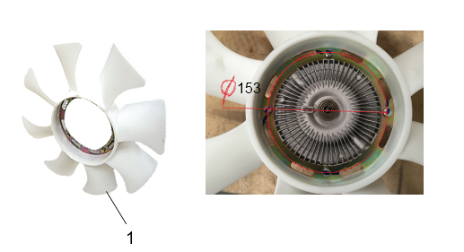 JAC ENGINE FAN (FAN ASSY) 1307110FA01