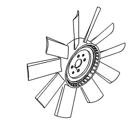 JAC ENGINE FAN (FAN ASSY) 1308010E898