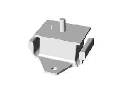 JAC LEFT ENGINE FRONT SUSPENSION RUBBER CUSHION ASSY 1001070LE010