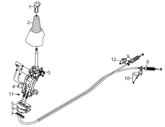 JAC GEAR SHIFTING CABLE 1703040B1