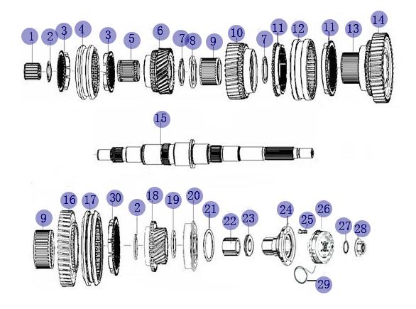 JAC MAIN SHAFT BEARING TM63/32YA2-RS1N/P63