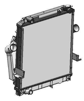 JAC RADIATOR INTERCOOLER ASSY 1301010LE310