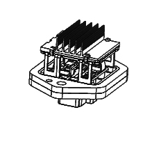 JAC RHEOSTAT 12V (ADJUSTABLE RESISTANCE ASSY) 8104030LD060