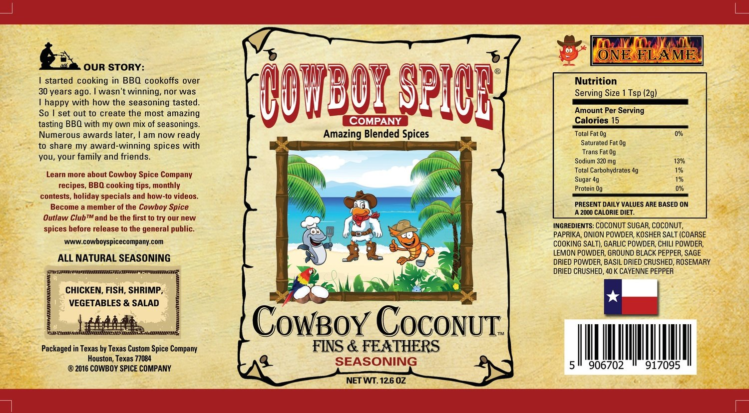 Cowboy Coconut Fins & Feathers ( AMAZING ON CHICKEN,FISH SHRIMP  WESATHER  YOU GRILL FRY OR BAKE WITH ONE OF MY FAVORITES)