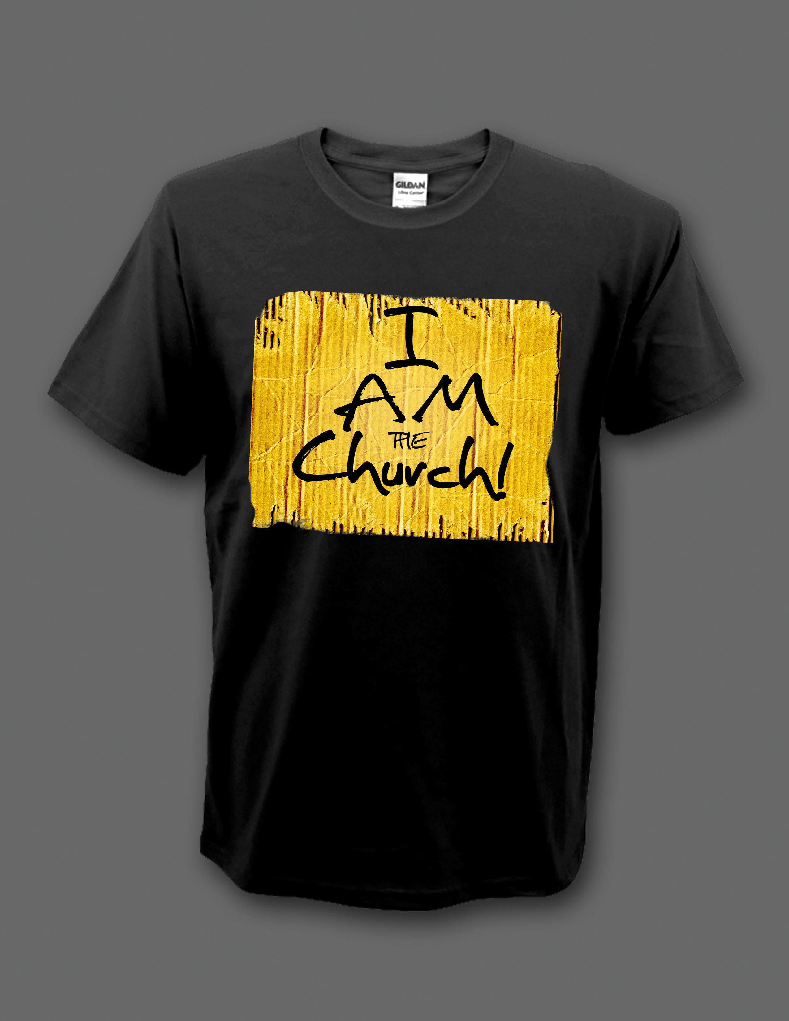 "Black ""I Am the Church"" t-shirt 00001"