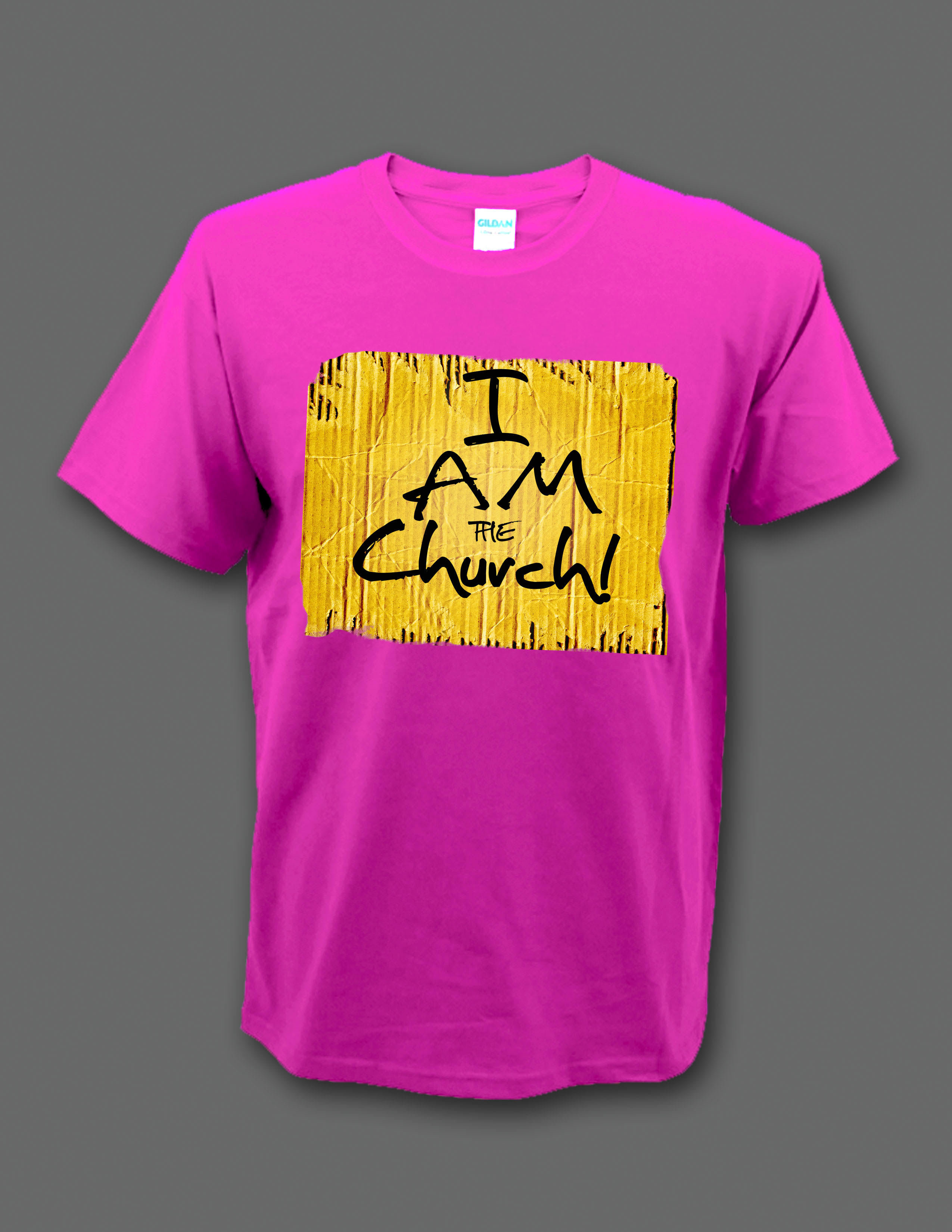 """Limited Edition Pink """"I Am the Church"""" t-shirt 00003"""