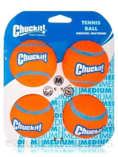 Chuckit Tennis Ball 4 Pack Medium 6.5cm 660048074045