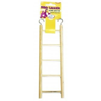 Happy Pet Wooden Bird Ladder 5 Step 701029210202