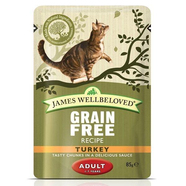 Jw Cat Adult Pouch Turkey 85g 9003579310496