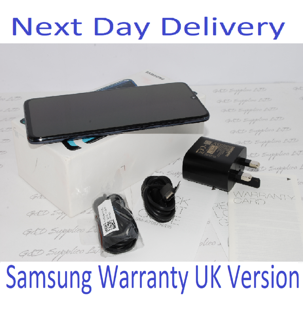 # SAMSUNG GALAXY A70 SM-A705F 128GB 2019 4G NFC BLACK Dual Sim UNLOCKED UK  Version