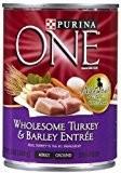 Purina ONE Smartblend Wet Dog Food, Classic, Turkey & Barley Entrée, 13-Oz 12 count (5/19) (A.I4)