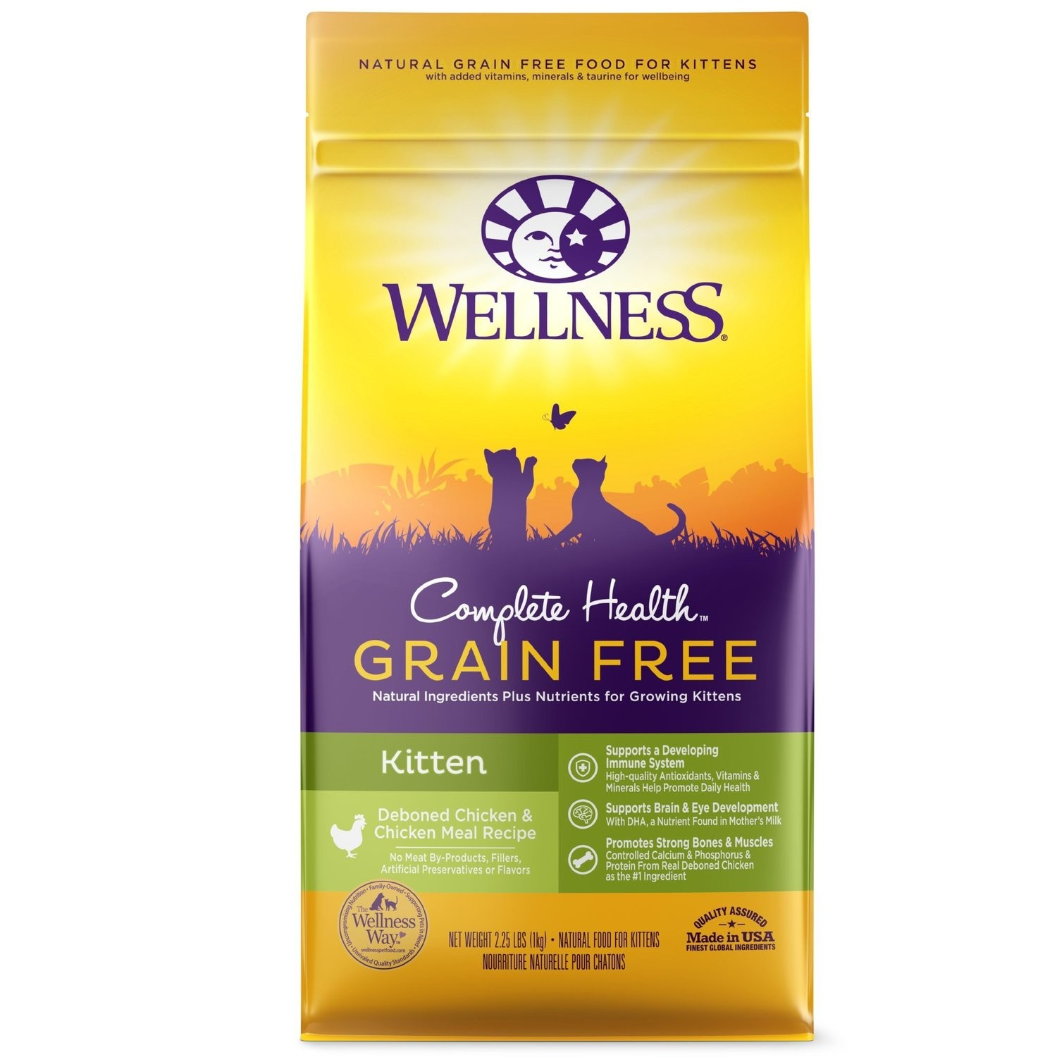 Wellness Complete Health Natural Grain Free Deboned Chicken & Chicken Meal Dry Cat Food 2.25 oz. (4/19) (A.K2)