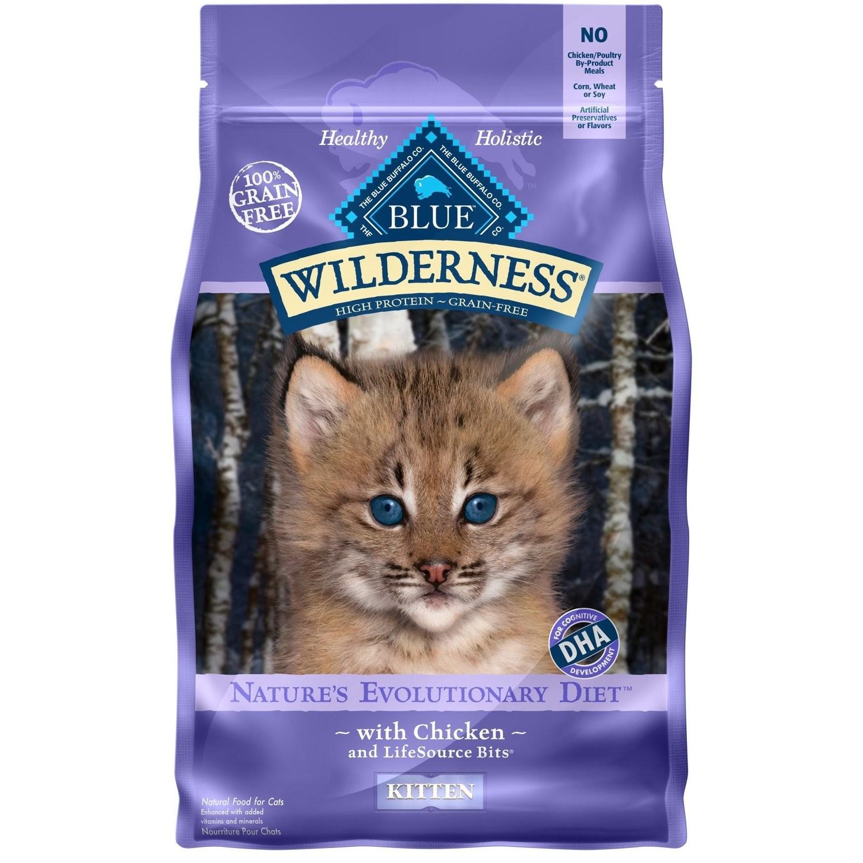 Blue Buffalo Wilderness Grain-Free Kitten Food, 5 lbs. (5/19) (A.J3)