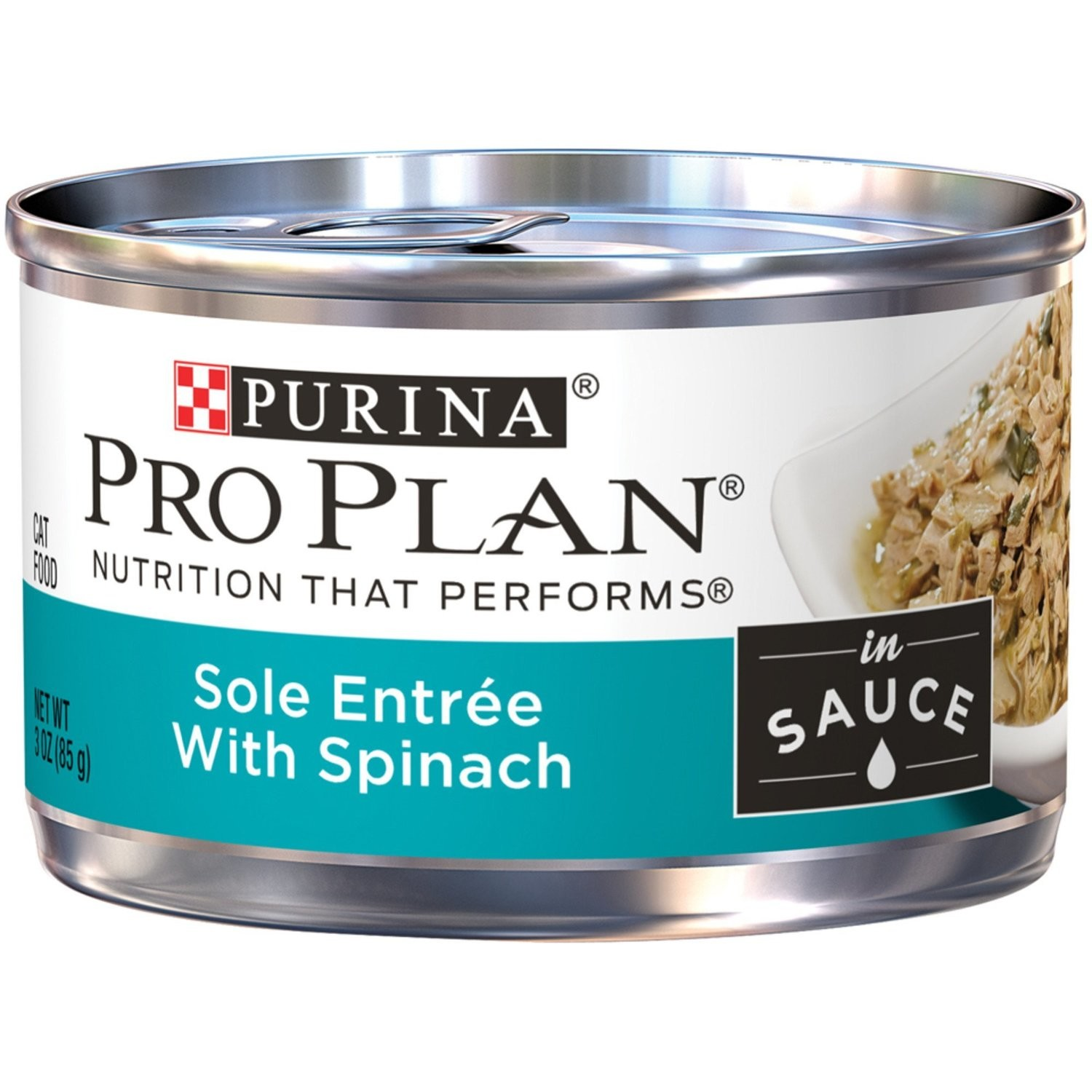 Pro Plan Savor Sole and Spinach Adult Canned Cat Food, 3 oz., Case of 24 (5/19) (A.K3)
