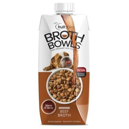 Fruitables Broth Bowls Beef Dog Supplement Tub, 16.9 Oz (3/19) (A.O2)