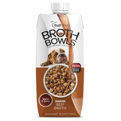 Fruitables Broth Bowls Beef Dog Supplement Tub, 16.9 Oz (3/19) (A.K5)