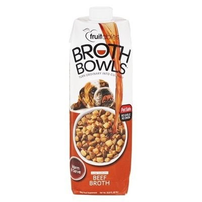 Fruitables Broth Bowls Beef Dog Supplement, 33.8 Oz (3/19) (O.O3/DW)