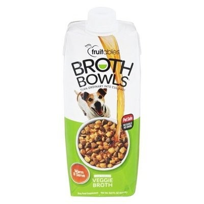 Fruitables Broth Bowls Veggie Dog Supplement Tub, 16.9 Oz (4/19) (A.K5)