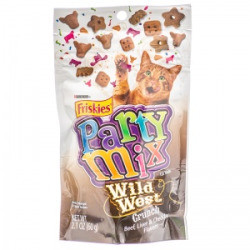 Friskies Party Mix Wild West Crunch Cat Treats: 2.1 oz (5/19) (T.B8)