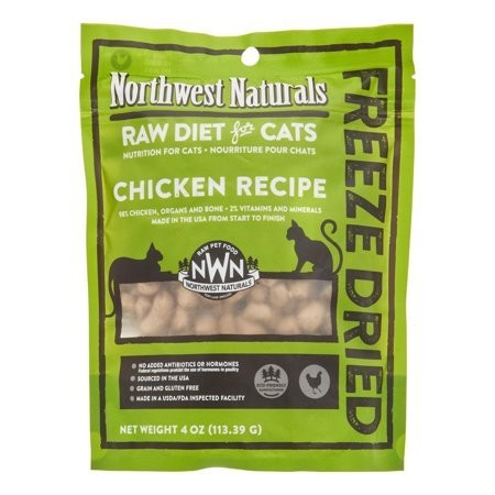 NW Naturals Raw Diet Grain-Free Chicken Freeze Dried Cat Treats, 4 Oz (5/19) (T.B8)