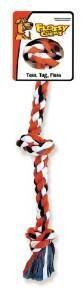 Mammoth Flossy Chews Color Rope Bones 3 Knot LARGE **Picture is for representation only**