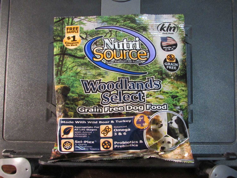 **SALE** Nutrisource Woodlands Grain Free Boar & Turkey - Dog 5 oz (29803) (3/18) (A.Q2)