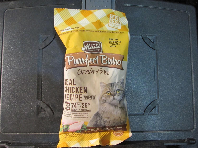 Merrick Purrfect Bistro Real Deboned Chicken GF 3 oz (2/19) (A.C3)