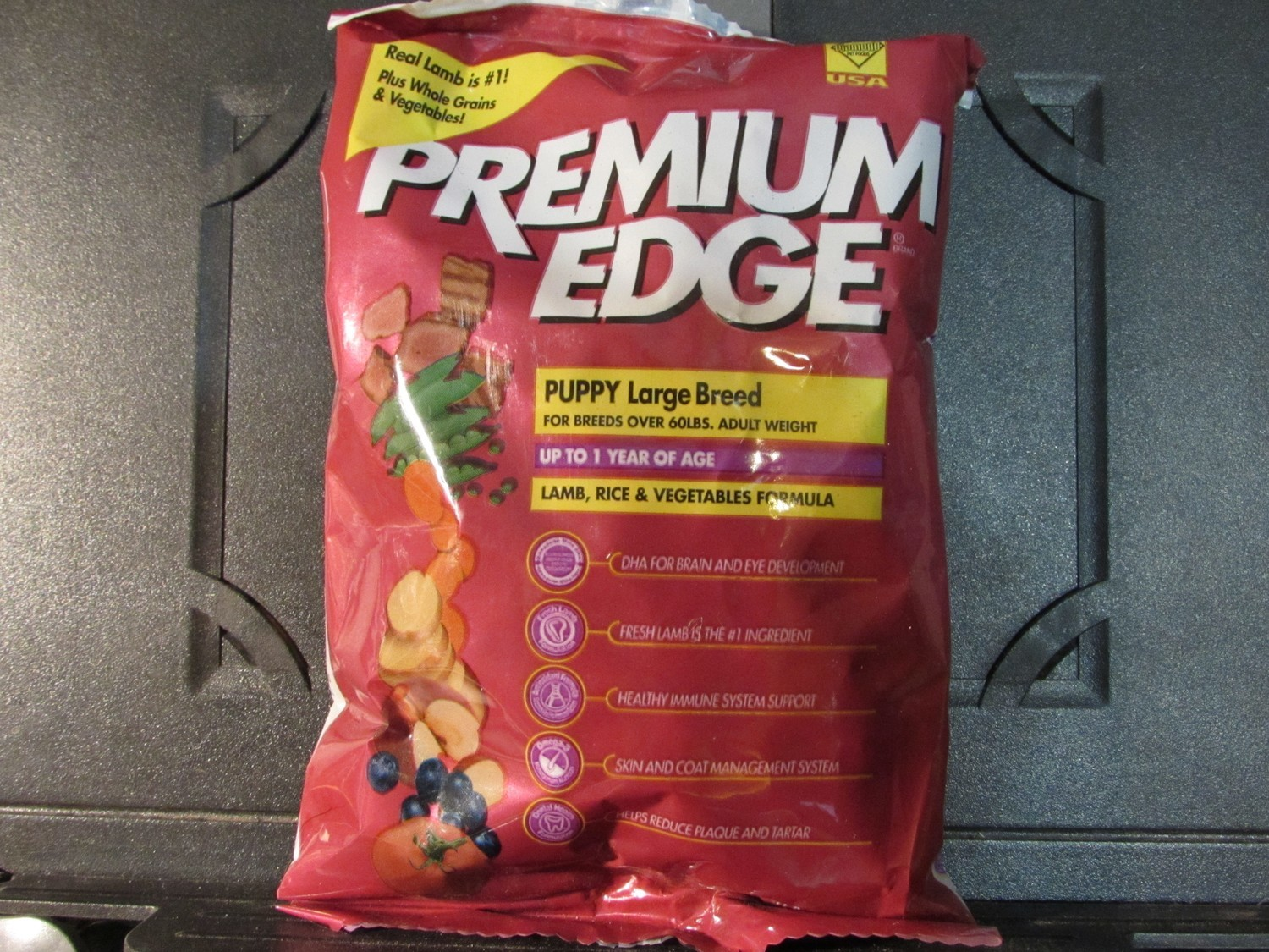 Premium Edge Puppy Large Breed Lam, Rice & Vegi's 6 oz (6/18) (A.O4)