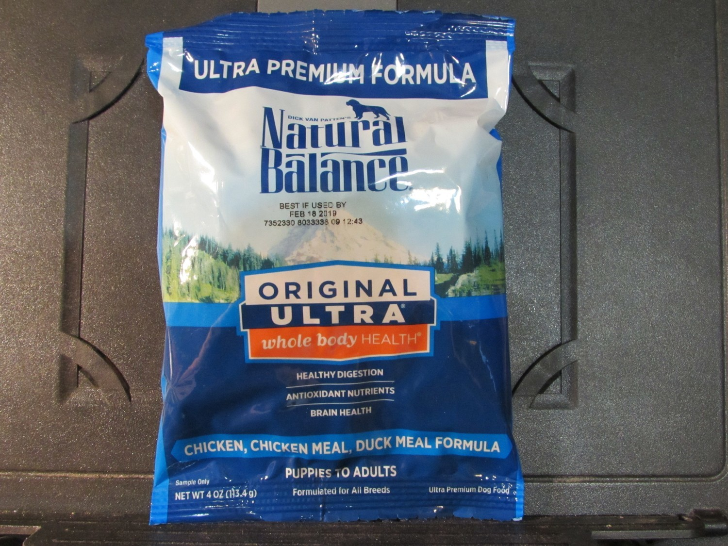 Natural Balance Premium Chicken, Duck Dog Trial Size  4 oz (9/18) (A.P6)