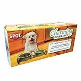 Ethical Pet Charming Double Diner Dog Dishes, 6-Inch, Green (B.D4)