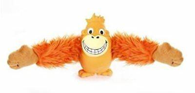 Knight Pet Plush Orange Smiling Orangutan Pull Arms Dog Toy (B.B1)