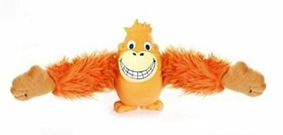 Knight Pet Plush Orange Smiling Orangutan Pull Arms Dog Toy (B.B1)