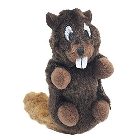 Knight Pet Runtzees Furry Plush Beaver Small Forrest Dog Toy (B.B1)