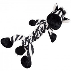 Kong Braidz Braidz Zebra Dog Toy: Small - (7 Long) Plush Dog Toys (B.C9)