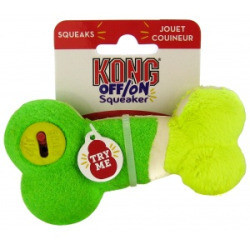 Kong Off/On Squeaker - Bone: Small  Squeaky Dog Toys (B.C11)