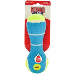 KONG Off/On Squeaker Rattle for Dogs, Medium, Colors Vary Multi-Colored (B.C11)