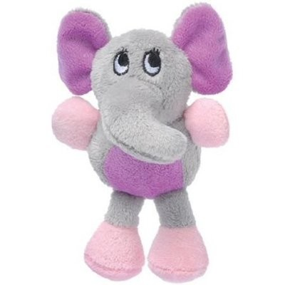 Krislin Runtzees Rainbow Plush Elephant Pet Toy, Gray (B.C6)