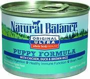 Natural Balance Original Ultra Chicken, Duck & Brown Rice Canned Puppy Food 6 OZ. SINGLES (9/17)