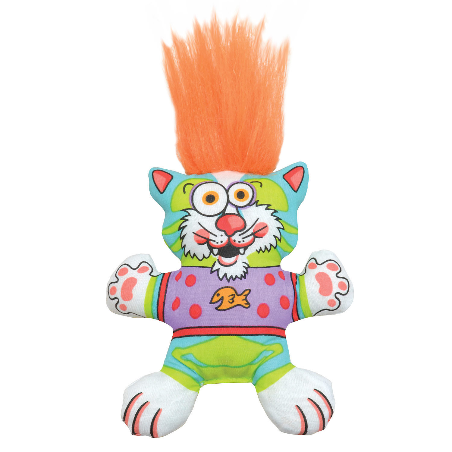 "Petstages Big Hair Kitty Cat Toy, 8.5"" L X 3.5"" W X 1.2"" H (B.C2/C8)"