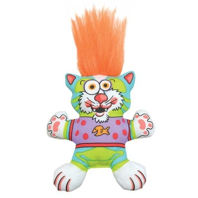 Petstages Big Hair Kitty Cat Toy, 8.5