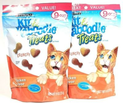 Purina 9 Oz Kit & Kaboodle Chicken Flavored Crunchy Cat Treats(5/19) (T.B7)